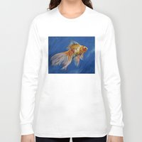 goldfish Long Sleeve T-shirts featuring Goldfish by Michael Creese