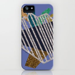 Heartstrings (blueviolet) iPhone Case