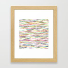 Colorful Abstract strips grid Framed Art Print