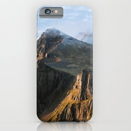 Mountain range in Iceland during Sunset – Landscape Photography iPhone Case