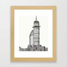 Mustachioed Monuments -- The Pru Framed Art Print