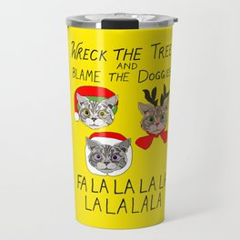 Holiday Cat Brats Travel Mug