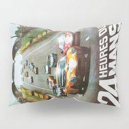 1966 Le Mans poster, Race poster, car poster, garage poster Pillow Sham