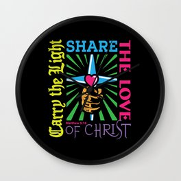 Carry the Light of Christ Wall Clock