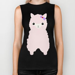 Alpaca in Love V 2 Biker Tank
