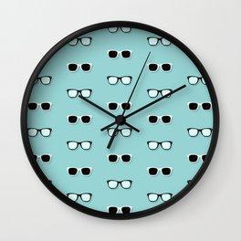 All Them Glasses - Teal Wall Clock