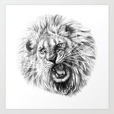 Lion roar G141 Art Print