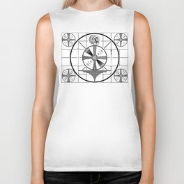 Indian-Head Test Pattern Biker Tank