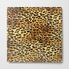Leopard Skin Camouflage Pattern Metal Print