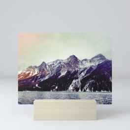 Lake and Mountains  - Nature Photography Mini Art Print
