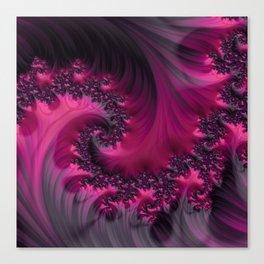 Twisting Dark Raspberry Ripple Canvas Print