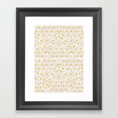 Geometric Diamond repeating Framed Art Print