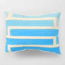 Baby Blue Geometric Pattern Pillow Sham