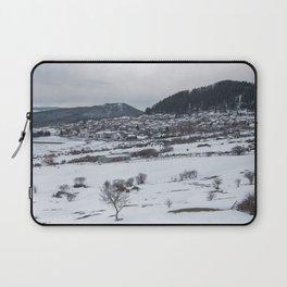 Snowy landscape from Sicily Laptop Sleeve