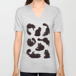 Bunch of cats Unisex V-Neck