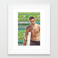 liam payne Framed Art Prints featuring Liam Payne  by ScreamLarryAf