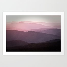 sunset story Art Print