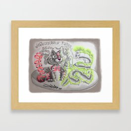 Tripping Cheshire Cat Framed Art Print