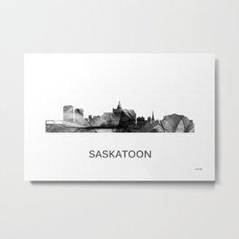 Saskatoon, Saskatchewan Canada Skyline WB WB Metal Print