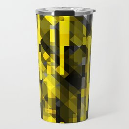 abstract composition in yellow and grays Travel Mug