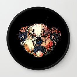 Frown Clown Wall Clock
