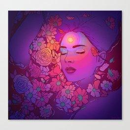Floral Bath 2   2018 Canvas Print
