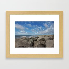 Peaceful And Beautiful Day Framed Art Print