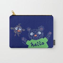 Hello Bear & Bird Carry-All Pouch