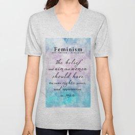 Feminism Definition - Feminist Art Equal Rights Unisex V-Neck