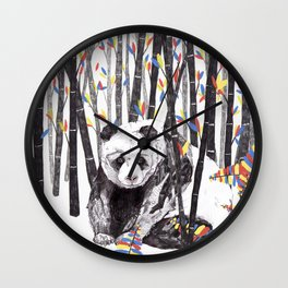 Panda Bear // Endangered Animals Wall Clock