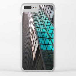 Pink Green Clear iPhone Case