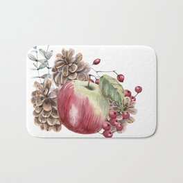 Winter Composition Bath Mat