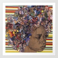 afro Art Prints featuring Afro by Chris McArdle