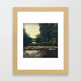 Old Creekside Mill Dam Framed Art Print