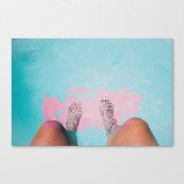 Both Feet In #society6 #buyart Canvas Print