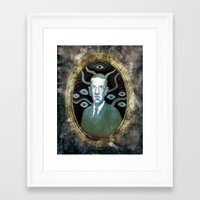 lovecraft Framed Art Prints featuring H.P Lovecraft by Andrew West