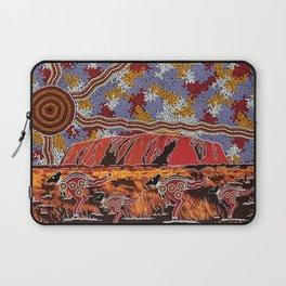 Uluru (Ayers Rock) Authentic Aboriginal Art Laptop Sleeve