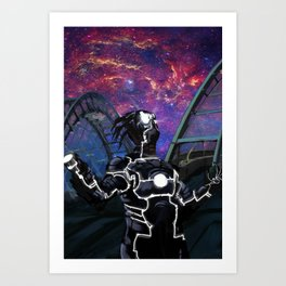 Alien Dude Looking at the Sky Art Print