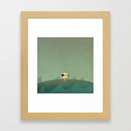 Little Green Pirate Framed Art Print