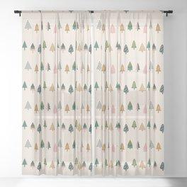 Christmas Trees (Highland) Sheer Curtain