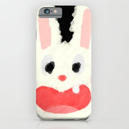 One Tooth Rabbit Pastel Style iPhone Case