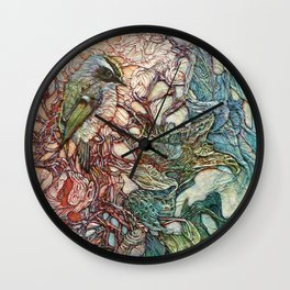 The Kinglet's Quarters Wall Clock