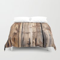 wood Duvet Covers featuring Wood by Patterns and Textures