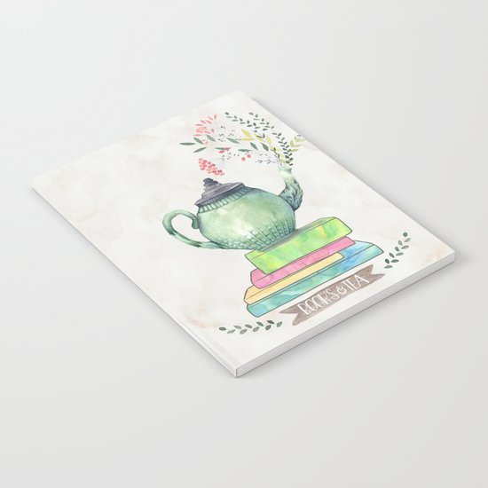 Books & Tea Watercolor Notebook