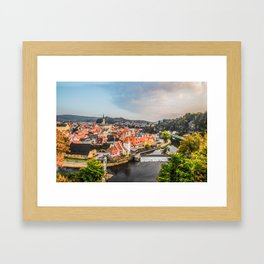 Cesky Krumlov Panoramic view Framed Art Print