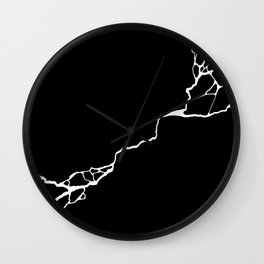 Diagonal Destroyed Dark Wall Clock