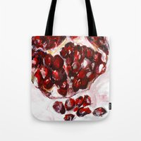 pomegranate Tote Bags featuring Pomegranate by James Peart