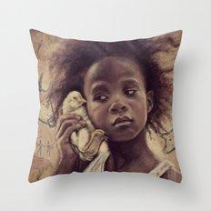 Hushpuppy Throw Pillow