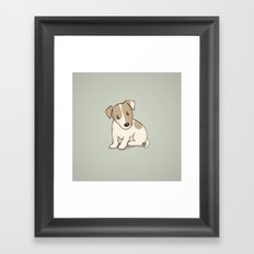 Jack Russell Terrier Dog Illustration Framed Art Print