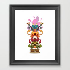 Monster´s Totem Framed Art Print